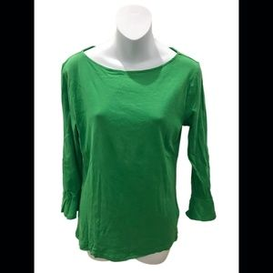 Lauren Ralph Lauren Green Long Sleeve Top